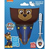Zak Designs Paw Patrol Kids Cereal Bowl, Tumbler and Spoon Set, Chase