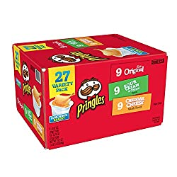 Pringles Snack Stacks Potato Crisps Chips Cup, Flavored Variety Lunch Pack, 27 Count, 19.3oz