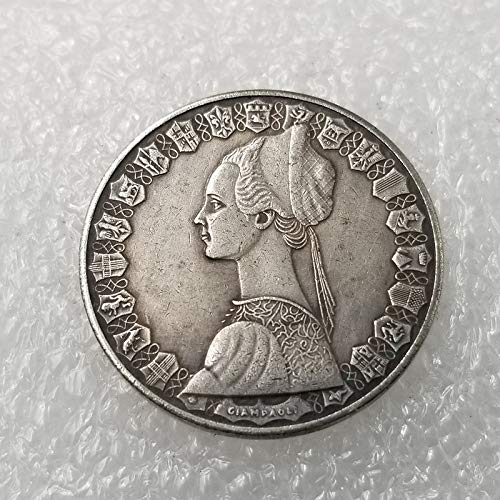 Italia,500 Liras,Plateado,Antiguo,Antiguo,Moneda Conmemorativa,Arte Fino,Moneda de Desafío,2 Piezas Realzar/Plata / 2 Piezas