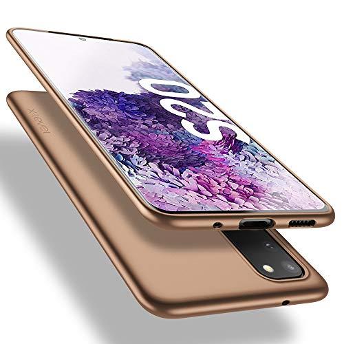 X-level Samsung Galaxy S20 Hülle, [Guardian Serie] Soft Flex TPU Hülle Superdünn Handyhülle Silikon Bumper Cover Schutz Tasche Schale Schutzhülle für Samsung Galaxy S20 5G - Gold