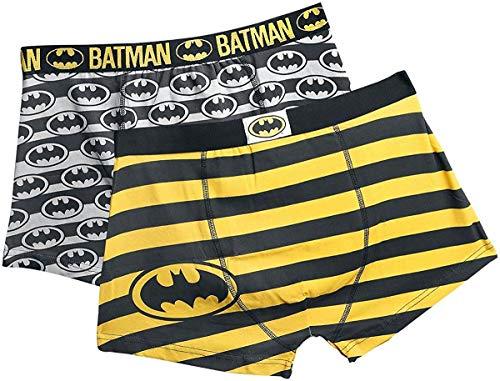 Batman DC Comics Herren Boxershorts 2er-Pack Schwarz S