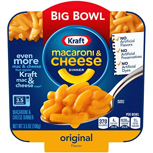 Kraft Easy Mac Big Bowl Original Macaroni and Cheese Dinner, 3.5 oz....