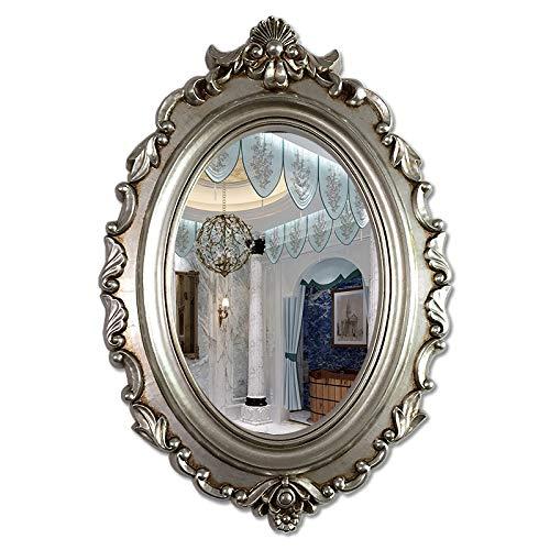 Decoración del hogar Espejos Espejo Ovalado, Escultura De Pared Escultura Decorativa Dormitorio Dormitorio Corredor Ronda Vanity Mirror 53 * 77cm Espejos de baño(Size:53 * 77CM,Color:C)