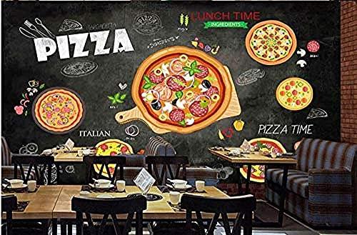 Papel pintado moderno personalizado pintado a mano restaurante occidental pizarra Pizza sofá TV fondo papele Pared Pintado Papel tapiz 3D Decoración dormitorio Fotomural sala sofá mural-430cm×300cm