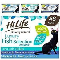 100% natural ingredients 100% grain free Luxury cat food 60% reah fish pieces No artificial nasties!