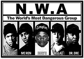 E-Buyer Lineup Music Poster - Ice Cube - MC Ren - Eazy E - Yella - Dr Dre Wall Art Poster
