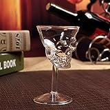1PC Cristal Calavera Cabeza Copa Chupito Whisky Vino Vaso Copa Vaso Copa Vacío Whisky Cocktail, Fiesta Bar