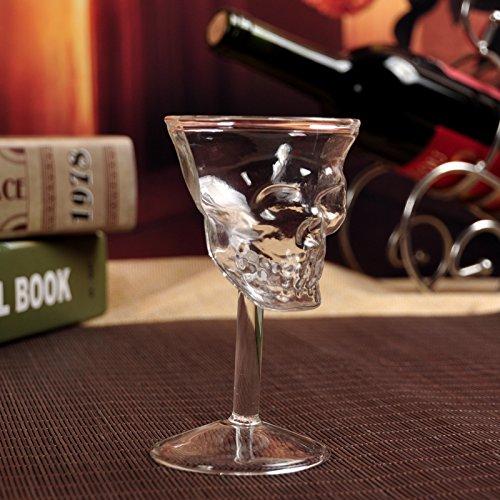 1PC Cristal Calavera Cabeza Copa Chupito Whisky Vino Vaso Copa Vaso Copa...
