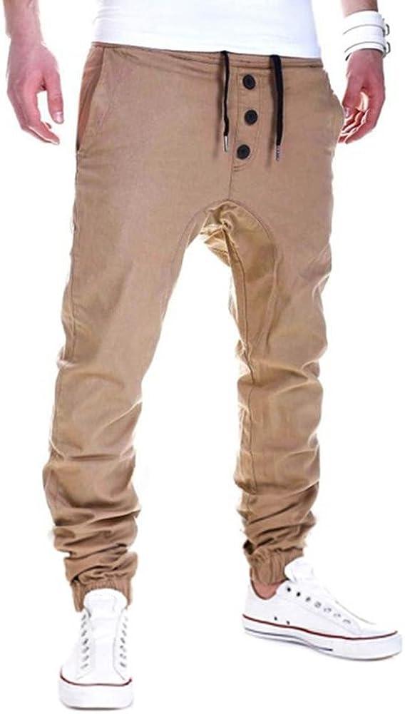 Mens Trousers Sweatpants Harem Hip Hop Pants Slacks Casual Jogger Dance Sports Wear Baggy Elastic Waist