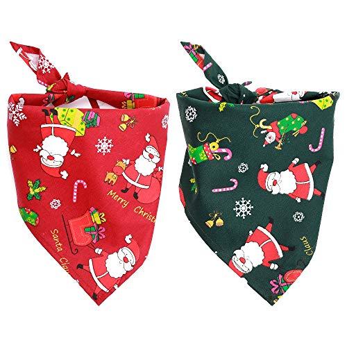 Confezione da 2 bavaglini a forma di bandana per cani di taglia piccola, media e grande, per animali domestici, per animali domestici, come decorazione per animali domestici, per animali domestici