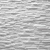 EPS-Schaumstoff Verblendsteine Tasso Ultraleicht - Wanddekoration / Fliesen / Verblendstein / Wandplatten (weiß)