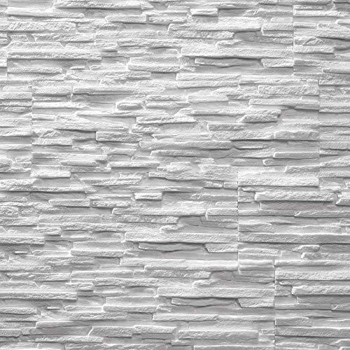 EPS-Schaumstoff Verblendsteine Tasso Ultraleicht - Wanddekoration/Fliesen/Verblendstein/Wandplatten (weiß)