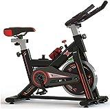 LKK-KK Bicicleta de ejercicio de ciclismo indoor,LCD de visualización electrónica Lee sensor de ritmo cardiaco,etc,manillar ajustable del asiento del sostenedor del teléfono móvil de resistencia con