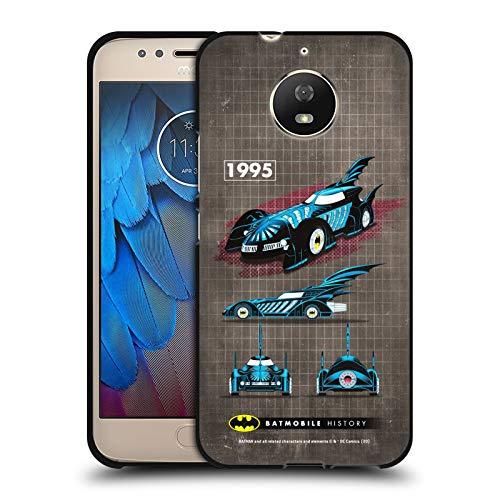 Head Case Designs sous Licence Officielle Batman DC Comics Film de 1995 Histoire de la Batmobile Coque Noir en Gel Doux Compatible avec Motorola Moto G5S