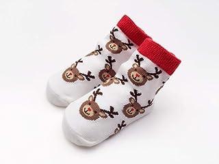 Tony plate, Tony plate Calcetines navideños Calcetines de algodón Calcetines de Papá Noel Niños Invierno Niño Calcetín navideño Calcetines Antideslizantes para bebés 18M