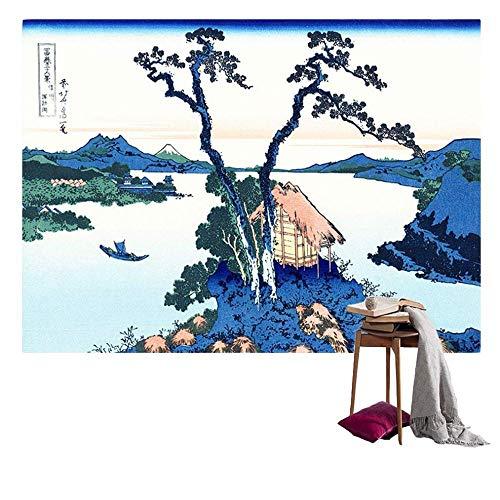 AdoDecor Tapiz de impresión de Arte japonés japonés Tapiz Colgante de Pared decoración de Dormitorio Mantel Arte japonés 150x100cm/59 * 39 Pulgadas