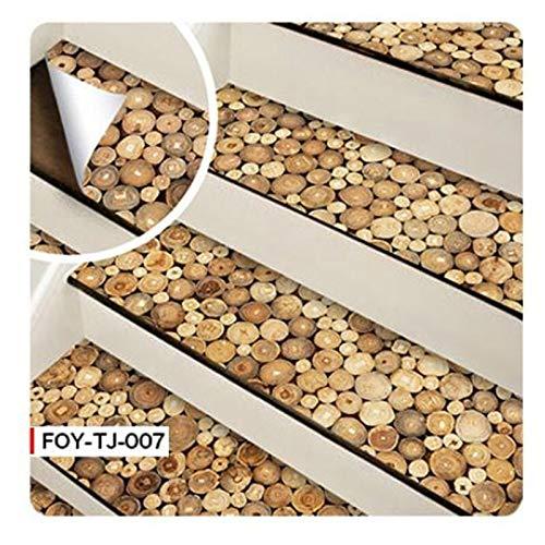 6 pegatinas autoadhesivas para escaleras de azulejos de mosaico, vinilo adhesivo de pared de PVC para cocina, pegatinas de cerámica, decoración del hogar (color 007 pegatinas de escaleras)