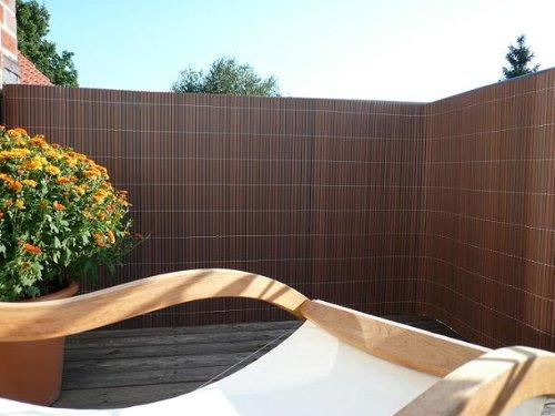 Videx Sichtschutzmatte Rügen Kunststoff, nussbaum, 90 x 300cm