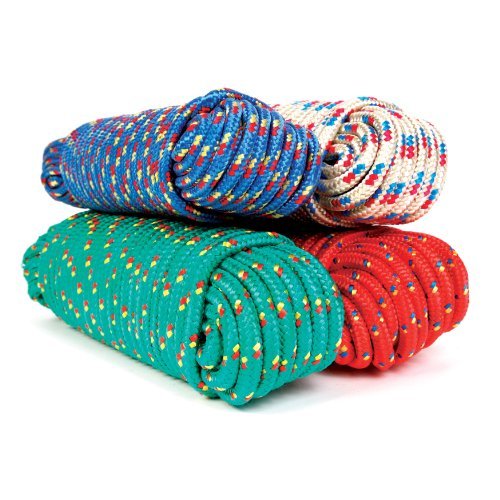 Koch 5171224 3/8 by 50-Feet Poly Diamond Braid Rope, Assorted Colors