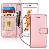 FYY CoqueiPhone 6S Plus, Coque iPhone 6 Plus, [Rose Or] Étui en Cuir de première qualité avec...