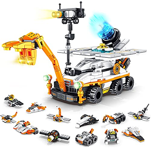 VATOS Mars Rover Building Kit 25-in-1 Outer Space Explorer Educational Construction Toy for Kids 556 Pieces Solar Powered STEM Science Building Blocks Set for Boys Girls Age 6 7 8 9 10 11 12+