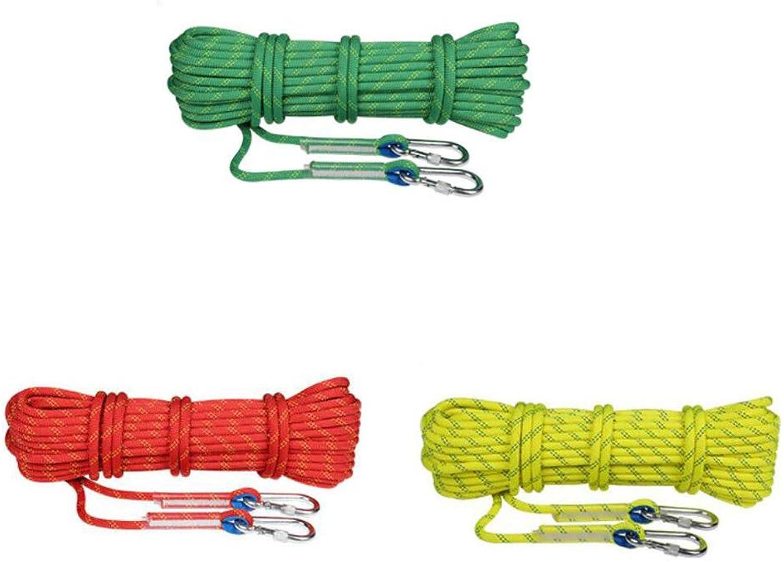 WYX Kletterseil Klettern Seil Camping Seil 12mm, Outdoor Klettern Seil Seil Seil Sicherheit Seil Lifeline Seil Ausrüstung, Sicherheit Durable Abseilen Seil mit 2 Haken Outdoor B07MV5RTVY  Produktqualität 53c367