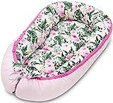 Lajlo Nido Bebé - Cama Bebés, Recién Nacidos y Niños Pequeños - Cómoda Cuna Viaje Lavable y Portátil con Lazos - Tumbona Bebes con Ropa de Cama de Algodón Hipoalergénica y Transpirable
