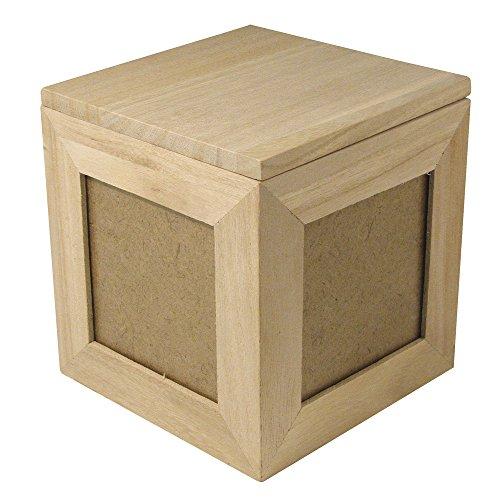 Rayher 62266000 cube photo en bois fSC mix credit 12 x 12 x 12 cm