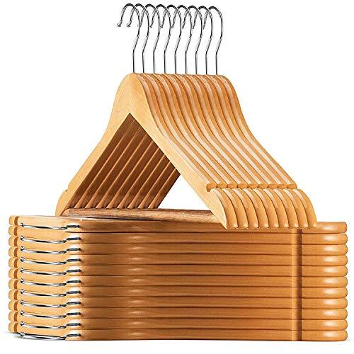 Best Overall: High-Grade Wooden Suit Hangers