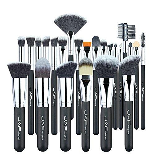 Pinceaux de maquillage JAF Vegan 24 Pcs Professionnel c Très Doux Synthétique Taklon Cheveux Approprié Cadeau Trousse à Outils J24SSY-OPP Brosses et outils de maquillage des yeux