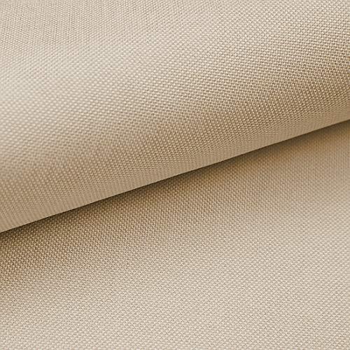 HEKO PANELS Torino Polsterstoff Möbelstoff Meterware - z.B. Stoff für Stühle oder Eckbank Bezug - Creme