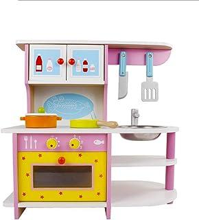 子供木製キッチン調理おもちゃ、優れたリトルヘルパー究極の子供キッズふりプレイおもちゃ木製キッチン