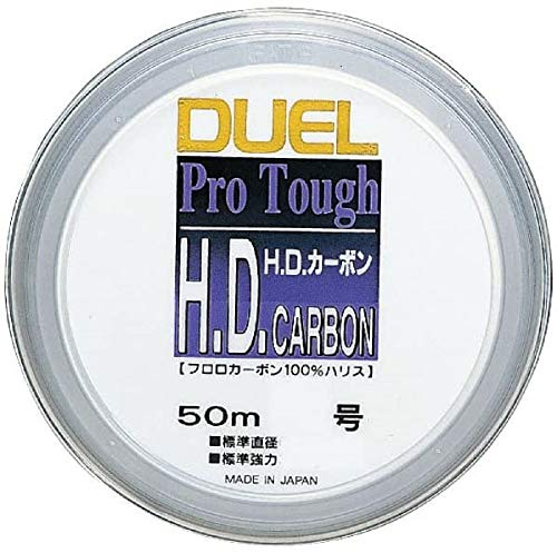 DUEL(デュエル) ハリス H.D. フロロカーボン 50m 1.5号 6 クリアー H809
