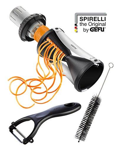GEFU 13780 - Spiralschneider SPIRELLI 2.0 inkl. Keramikschäler und Reinigungsbürste