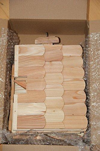 Vogelhaus Vogelhäuser VB53 Vogelfutterhaus Vogelhäuschen-aus Holz mit Lerchenholzschindeln - 3