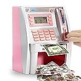 ATM Savings Bank,Personal ATM Cash Coin Money Savings Piggy Bank Pink...