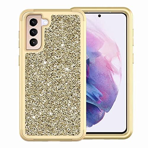 Ufgoszvp Funda para iPhone SE 2020, de doble capa, transparente, brillante, brillante, suave, flexible, TPU para mujeres y niñas, ajuste delgado, a prueba de golpes, para iPhone SE 2020, color dorado