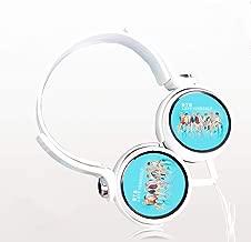 Fanmuran BTS BT21 KPOP Auriculares estéreo de Diadema para Smartphone móvil teléfono Inteligente Ordenador 3.5mm cancelación de Ruido Jimin Jungkook Suga V Talla única Regalos (2#)