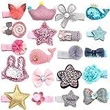 Unicra Haarspangen 20 PCS Baby Kleinkind Bogen Haarspangen Haarteile Zubehör Geschenksets für Mädchen