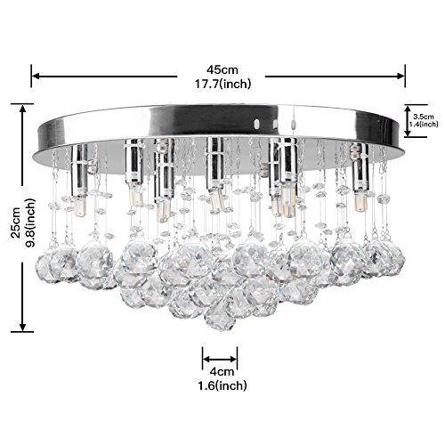CCLIFE Modern Kristall Kronleuchter LED G9 GU10 Deckenleuchte Pendelleuchte Crystal Lüster, Farbe:G9 - 3