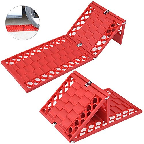 HCMAX 2 Paquetes Plegable Emergencia Coche Alfombrillas de Tracción Automática para Neumáticos Agarre de Neumático Escap del Coche Snow Grabber Coche de Nieve Ice Mud Sand