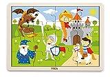 VIGAtoys Puzzle de madera con candado (16 piezas)