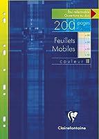 Clairefontaine 17511C - 200枚入り21x29.7cm携帯ノート、各種色(50枚、ブルー、グリーン、イエロー、ピンク)