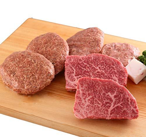 【最高級A5等級】 神戸牛セット 1万円ステーキ・ハンバーグコース(ランプステーキ2枚・ハンバーグ4個)