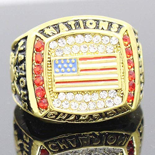 ZJL Sport Fans Ring Collectie meester Rings fans High-end Collection Fans Alloy Ringen herenaccessoires Vintage Accessoires, Goud, 11 11 goud