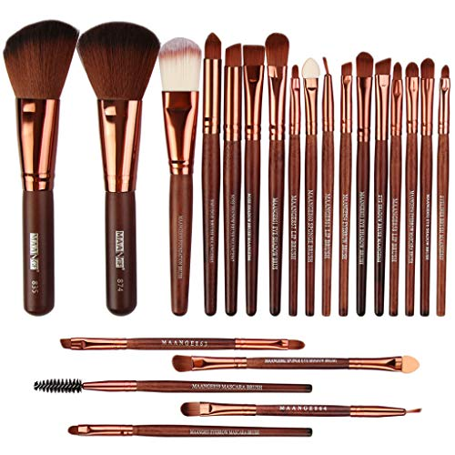 Professionnel de haute qualité en bois Set d'outils Trousse toilette Make Up Set x 22pcs Canifon