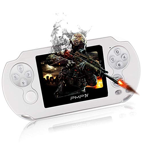 Rongyuxuan Handheld Game Console, 3' Retro Game Console with 566 Games 32 Bit System Portable Video Game Player Support Video / Music/ Ebook, Birthday Gifts For Kids and Adult