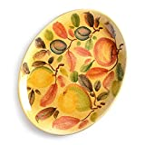 Italian Dinnerware - Oval Serving Plate - Handmade in Italy from our Frutta Laccata Collection