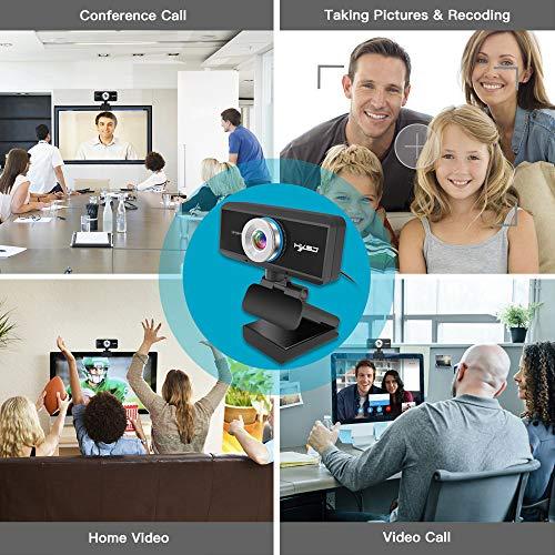 Docooler HXSJ S4 HD 1080P Webcam Manueller Fokus Computer Kamera Eingebautes Mikrofon Videoanruf Webkamera für PC Laptop