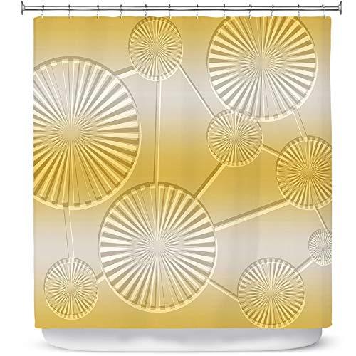 DiaNoche Designs badkamer douchegordijnen door Susie Kunzelman - Noordoosten 3 pittige mosterd